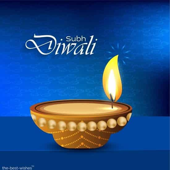 subh diwali with diya image