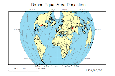 Cylindrical equal-area projection