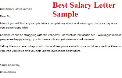 Sample Salary Negotiation Letter To Hr | Resume Examples and ...