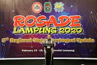 Gubernur Arinal Buka Simposium Kesehatan Rosade 2020, Mengajak Jajaran Kesehatan Turunkan Kematian Ibu dan Bayi
