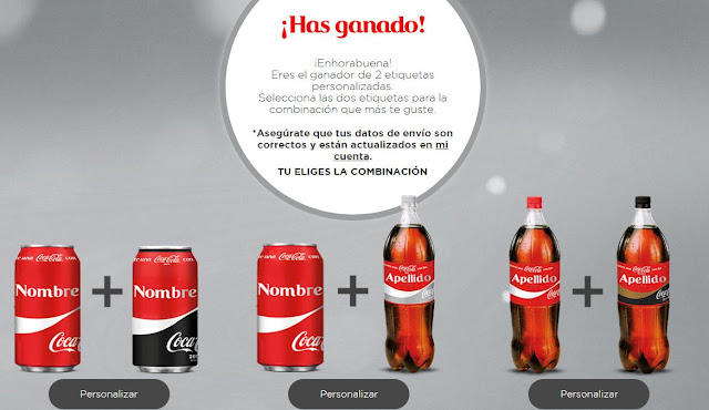 pegatinas personalizadas gratis coca cola