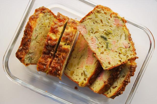 Cake au poireau et au saumon