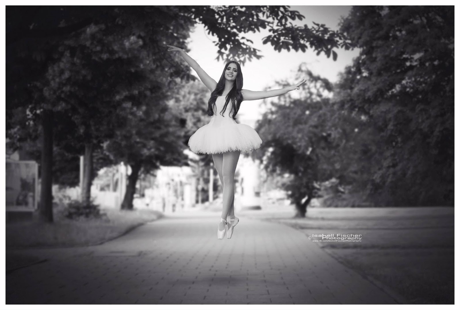 Ballerina levitation photoshoot