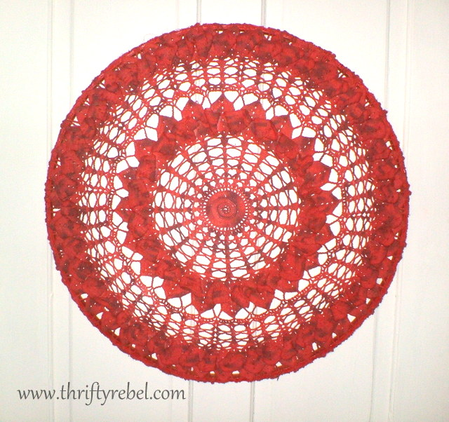 The Thrifty Rebel: Large Painted Doily Wall Art