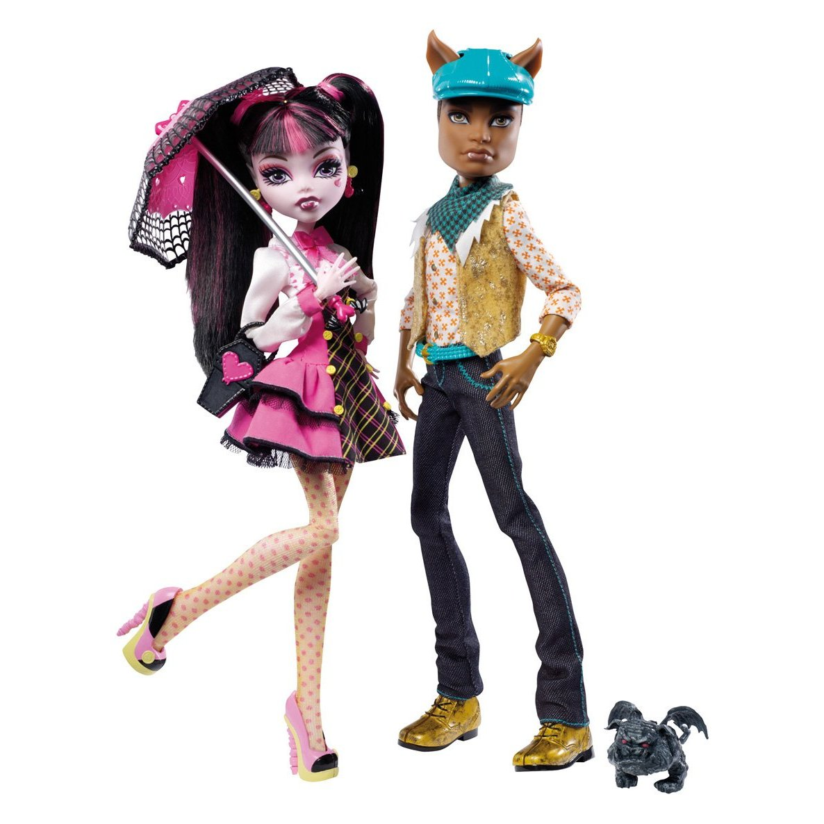 Toys pice sale 01: Monster High Draculaura And Clawd Wolf