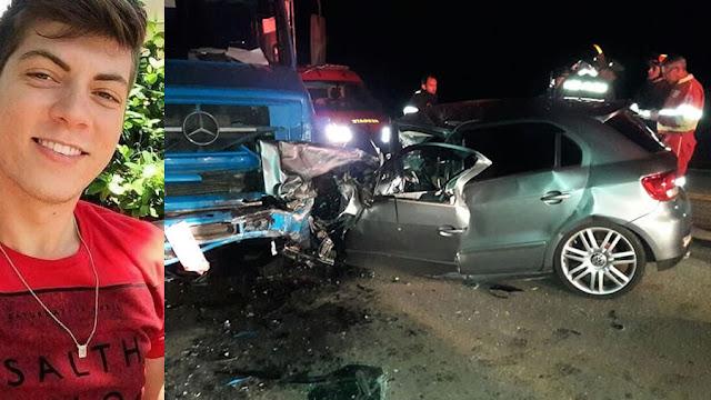 Estudante da UniFEOB morre após acidente de trânsito na rodovia São João x Vargem Grande do Sul