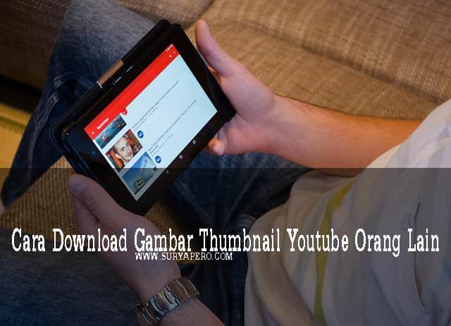 cara custom thumbnail youtube
