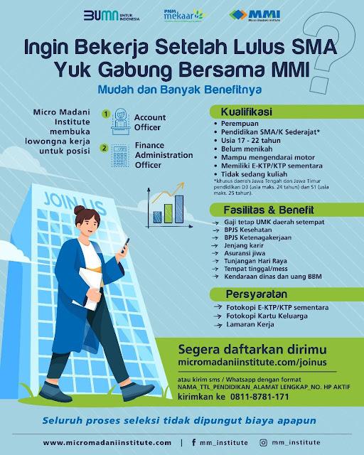 Lowongan Kerja Micro Madani Institute (PNM Group)
