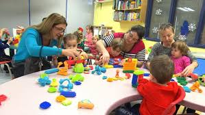 Child Learn through Play with toys