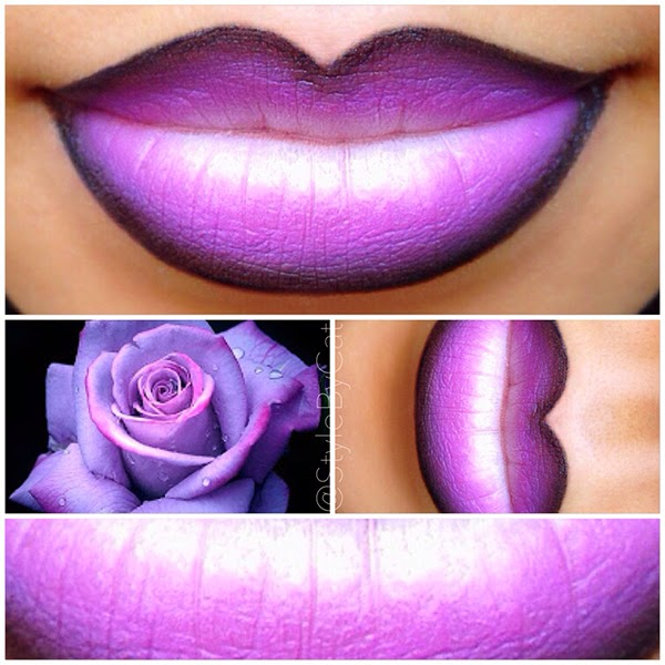 Style By Cat Purple Ombre Lipstick Tutorial