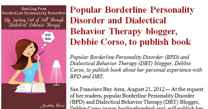 Healing From BPD - Borderline Personality Disorder Blog: New Book