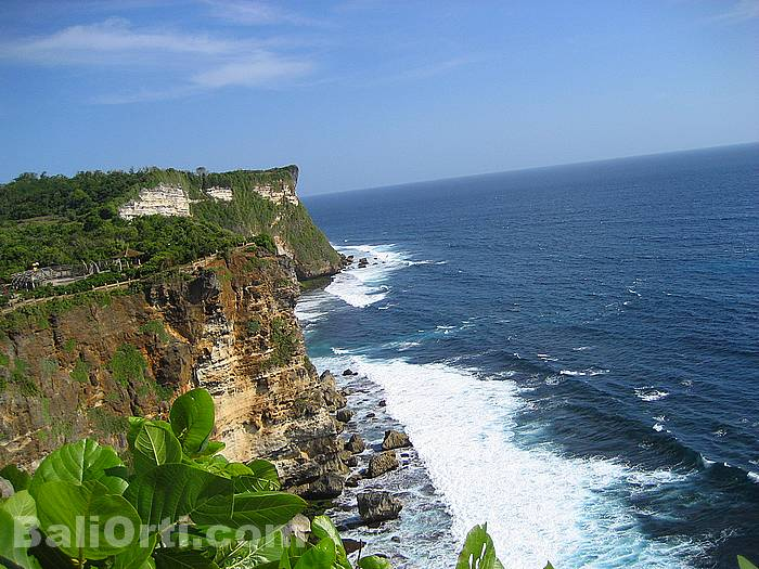 Beautiful scenery in Uluwatu viewed from the west