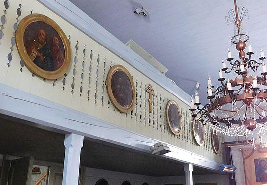 Ikony z prorokami pochodzące z cerkwi w Świerzowej Ruskiej, rozebranej w 1947 roku.