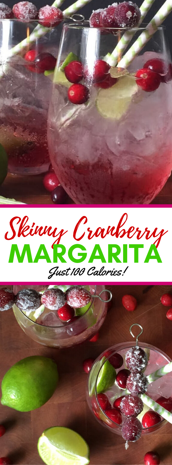 Delicious Skinny Cranberry Margarita Recipe #drinks #lowcalorie