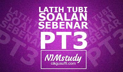 PT3 - Item Contoh soalan PT3 format baharu 2019 (Bahasa Melayu)