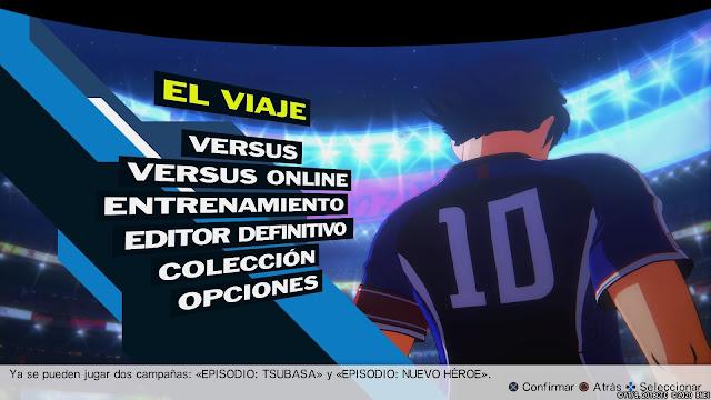 Análisis de Captain Tsubasa: Rise of New Champions para PS4 - Menú