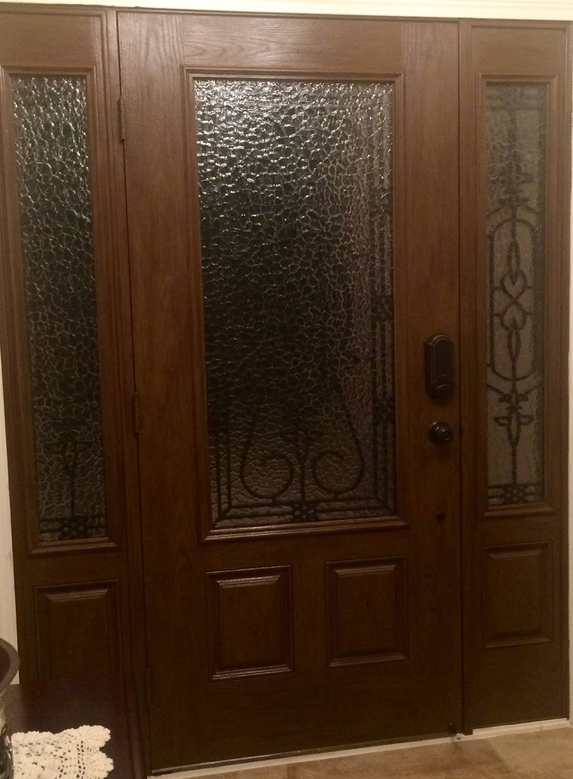 Our Diy Home Improvement Projects Completed Painted My Fiberglass Door Then Stained It With