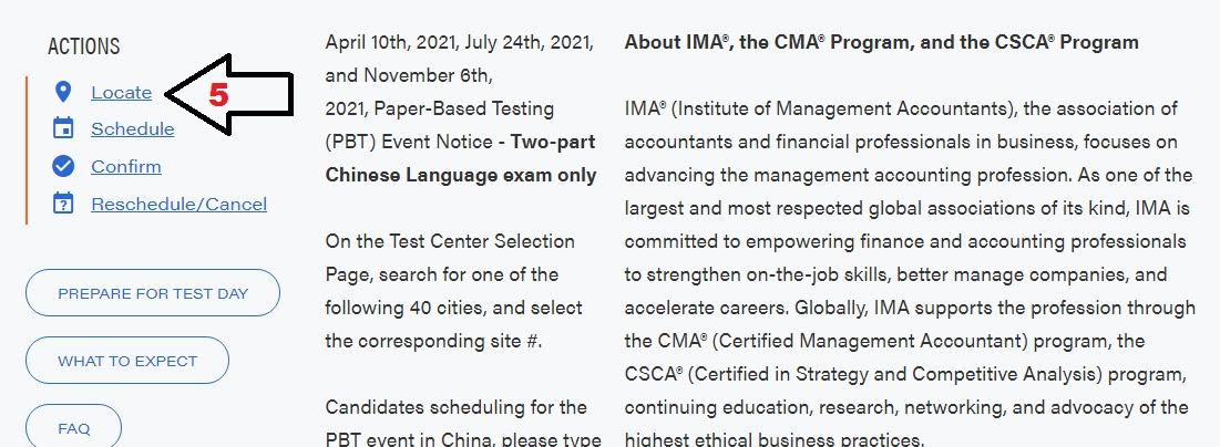 معرفة المواعيد المتاحة لإمتحان CMA على موقع PROMETRIC