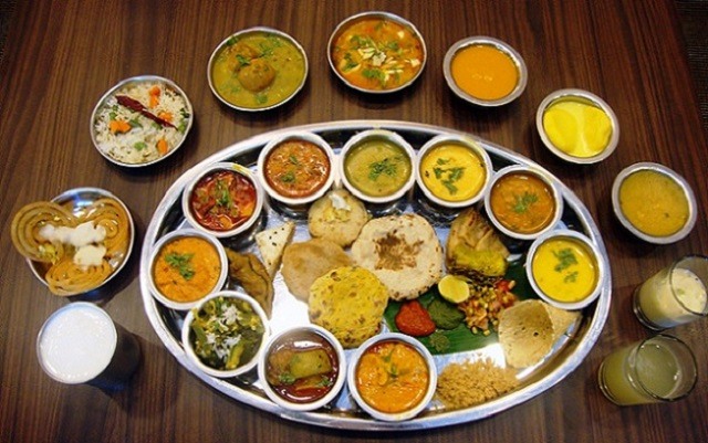 Delicious Traditional thali from Jaisalmer