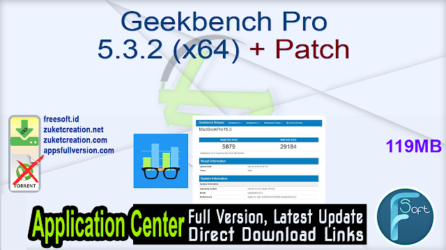 Geekbench Pro 5.3.2 (x64) + Patch