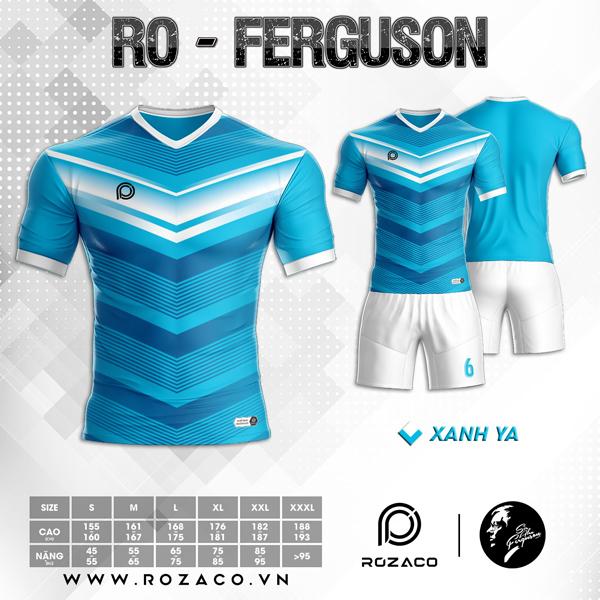 Áo Không Logo Rozaco RO-FERGUSON Màu Xanh Ya