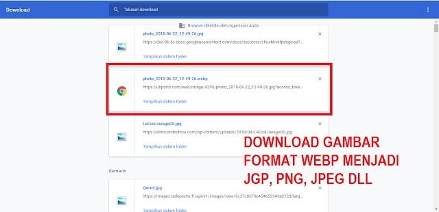Cara Mudah Download Gambar Format Webp Menjadi JPG, PNG, JPEG Dll