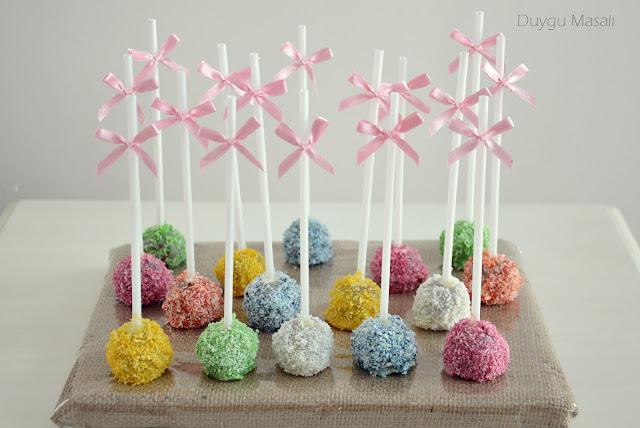 renkli cake pops