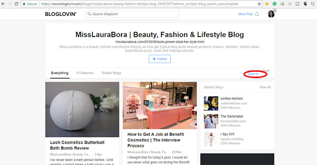 how to claim your blog on bloglovin (part 4)
