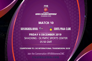 FIVB Volleyball Women's Club World Championship AsiaSat 5 Biss Key 6 December 2019