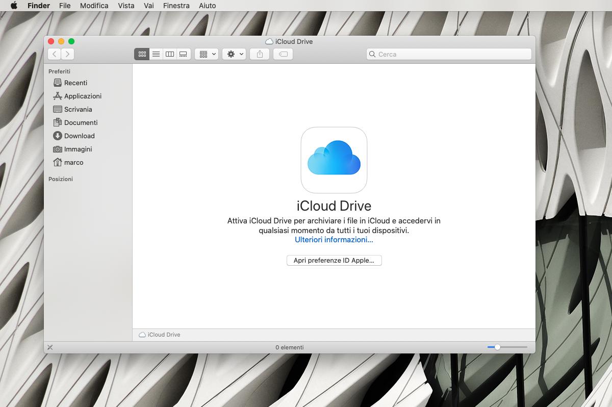 Cosa fare se iCloud Drive non carica