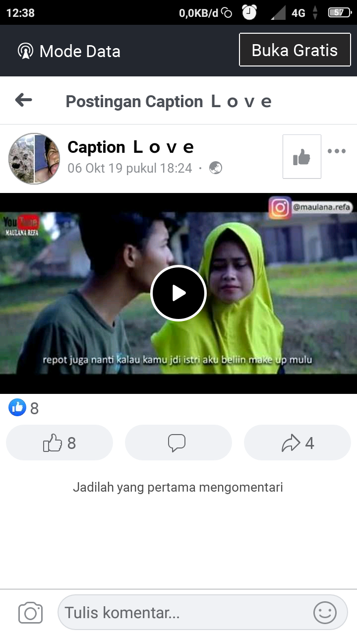Link video Facebook
