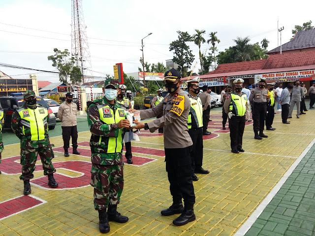 TNI-Polri Siap Bersinergi Sukseskan Pilkada Di HST