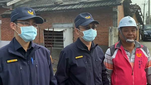 芳苑警分局結合行善團 幫弱勢家庭修破屋