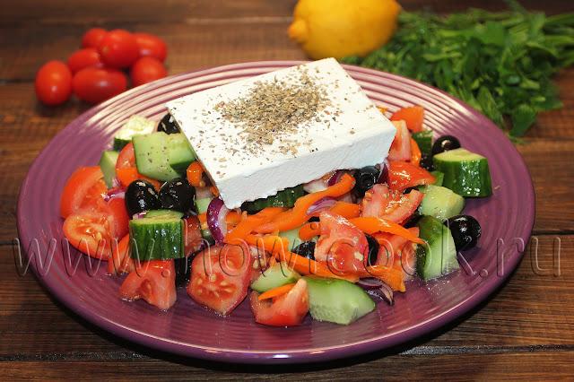 рецепт греческого салата хорьятики
