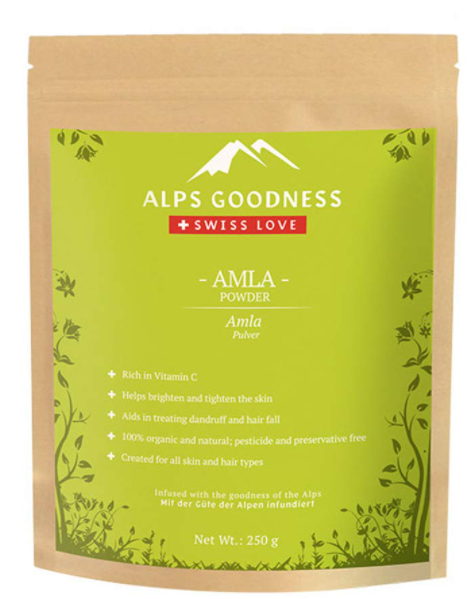 Alps Goodness Amla Powder for Skin & Hair (250 g) - Helps in Skin Brightening and Promotes Hair Growth - 100% Pure & Natural