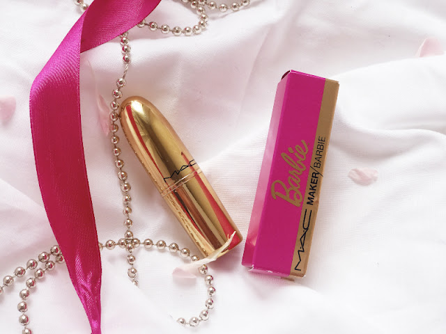 MAC Makers Barbie Lipstick UK @Barbiestyle Review Swatches