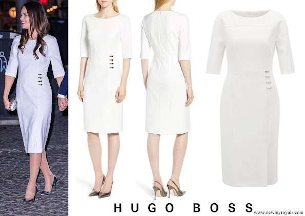 Princess Sofia wore HUGO BOSS Disoma Dress