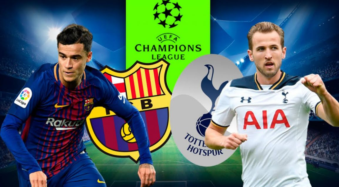 BARCELLONA TOTTENHAM Streaming: info Facebook Live YouTube, dove vederla Gratis Online