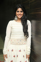 Megha Akash in beautiful White Anarkali Dress at Pre release function of Movie LIE ~ Celebrities Galleries 054.JPG