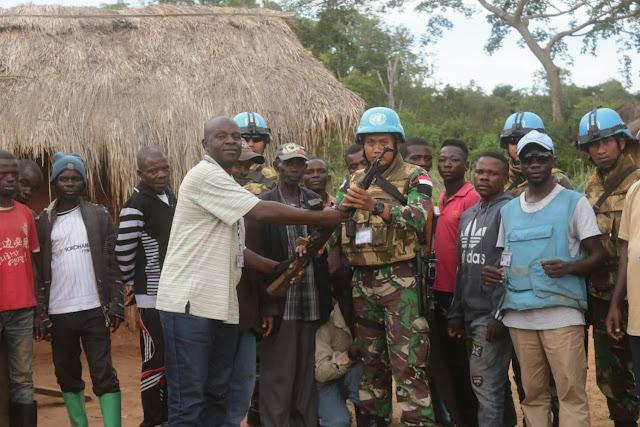 Prajurit TNI Konga XXXIX-A Kembali Dapatkan 1 Pucuk Senjata AK-47