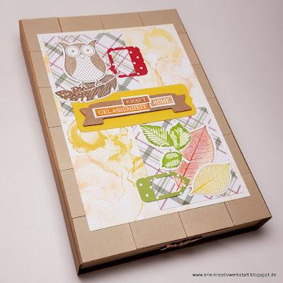 Herbstliche Grußkarten-Schubladenbox mit Eule Stampin' Up! www.eris-kreativwerkstatt.blogspot.de
