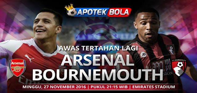 Prediksi Pertandingan Arsenal vs Bournemouth 27 November 2016