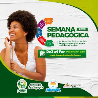 Em Picuí, rede municipal de ensino promove XX Semana Pedagógica