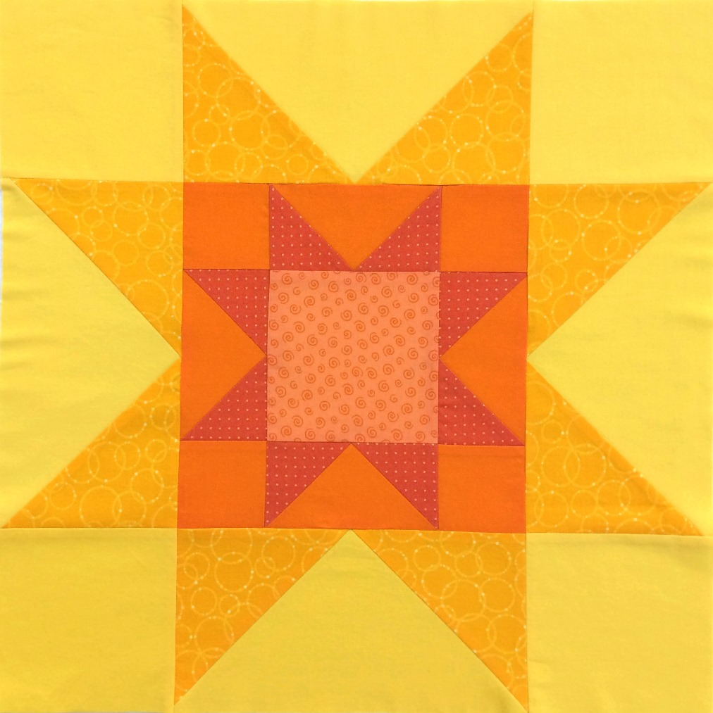 Quilted Blooms Sawtooth Star Quilt Blocks With Pieced