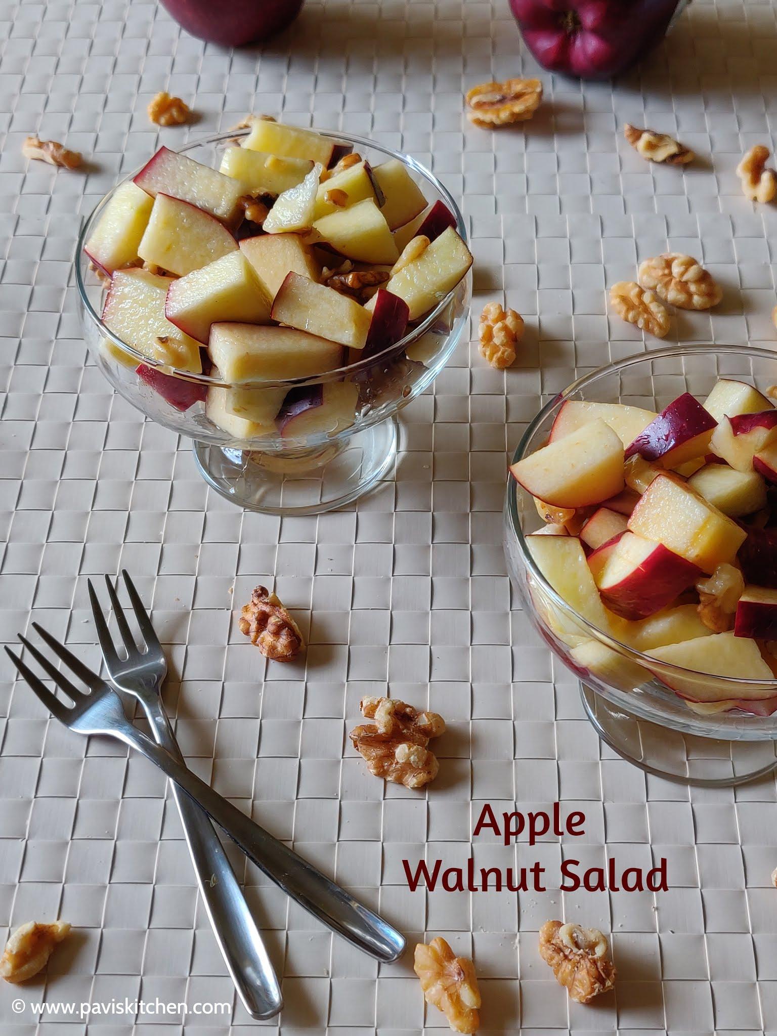 fruit salad recipe | Indian fruit salad | apple walnut salad