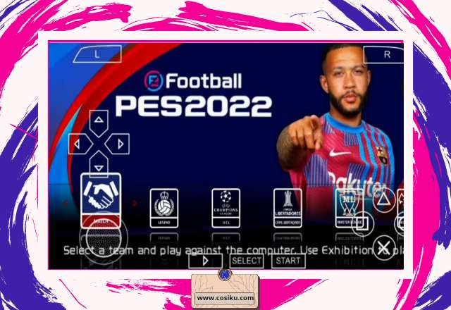 PES 2022 PPSSPP English Version Size 600MB Update Transfer, Kits & Graphic