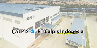 Lowongan Kerja PT Calpis Indonesia ( Pabrik CALPICO )
