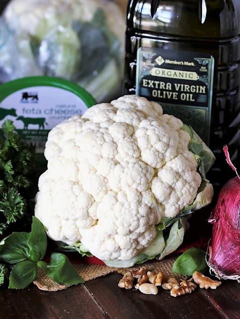 Roasted Cauliflower Salad Ingredients Image