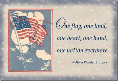 Happy Flag Day Quotes 2016: one flag, one land, one heart, one hand, one nation evermore.