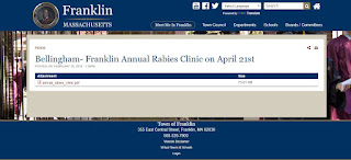 Bellingham-Franklin Annual Rabies Clinic - Apr 21